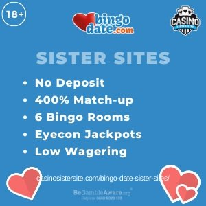 Bingo Date Sister Sites – Bingo sites with £40 to play with just £10 deposited.