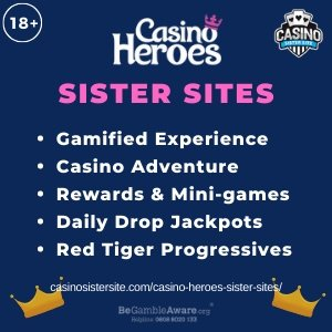 Casino Heroes Sister Sites – Sites with daily jackpots and Red Tiger progressives.