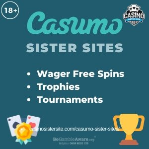 Casumo Sister Sites – 5 sites with free spins, similar slots & casino games.