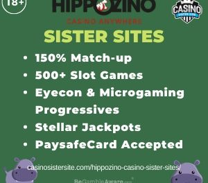 Hippozino Casino Sister Sites – 7 bingo & casino sites with free spins.