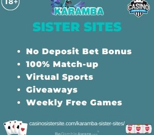 Karamba sister sites – Up to 100 free spins + similar slots & jackpots.