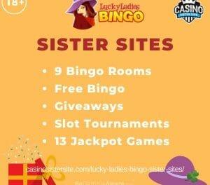 Lucky Ladies Bingo Sister Sites – More Slingo Originals, free no deposit & free bingo games.