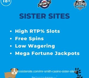 Mr Smith casino sister sites – 7 sites with free spins & 95.39% RTP.