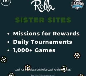 Rolla Casino Sister Sites – Similar sites with fun slots & huge progressives.
