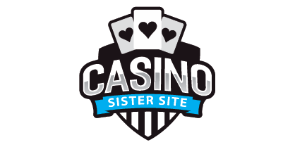 Logo image of the Casino Sister Site website displaying a badge with three playing cards with the Heart suit and the text that reads: Casino Sister Site.