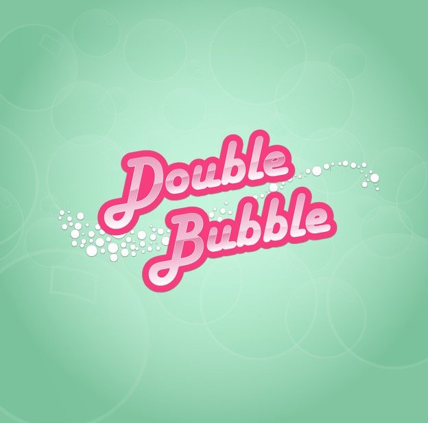 Featured image for the slot sites with Double Bubble slots review showing the game's logo that reads: Double Bubble.
