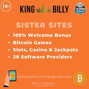 Banner image of the King Billy Sister Sites review