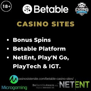 Betable Casino Sites – Free spins and 300+ games powered by Betable.
