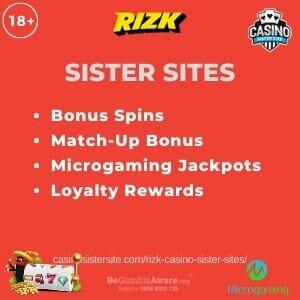 Rizk Sister Sites – Slots, bingo & Scratch-cards with 100% bonus.