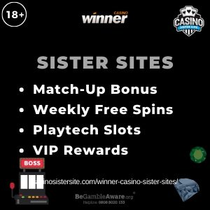 Winner Casino Sister Sites – High roller bonus, free spins & jackpots.