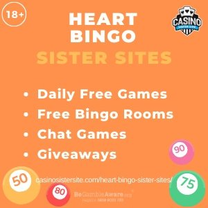 Heart Bingo Sister Sites – Free bingo games, daily free games & jackpots.