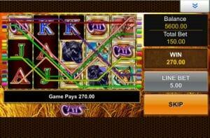 Screenshot of Cats slot