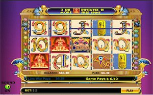 Screenshot of Cleopatra slot