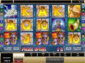Screenshot of thunderstruck slot
