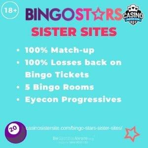 Bingo Stars sister sites – 5 sites with free bingo, similar slots & Jackpots.