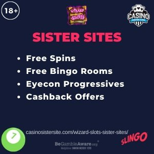 Wizard Slots Sister Sites Get Up To 500 Free Spins Bonus