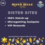 River Belle sister sites – Casinos with 100% bonus, Microgaming slots & VIP Rewards.