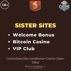 Bronze Casino sister sites - Top Bitcoin sites with VIP club. 7