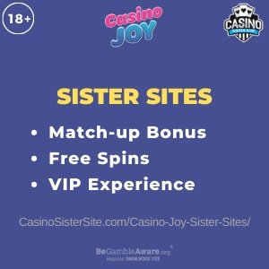 Casino Joy Sister Sites - 11 casinos with free spins and VIP Club. 7