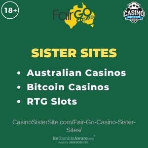 Fair Go Casino sister sites - 10 Australian casinos with Bitcoin and RTG games. 5