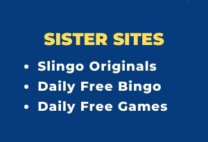 "Banner for the Gala Bingo sister sites review showing the brand's logo and the text: ""Gala Bingo sister sites. Slingo Originals. Daily free bingo. Daily free games."""