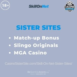 Skill On Net Sister Sites - Get 100 lucky spins & no wager. 1