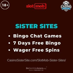 "Featured image for the SlotMob sister sites article showing the brand's logo and the text: ""Bingo Chat Games. 7 Days Free Bingo."""