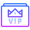 VIP Player and Customer Service icon graphic