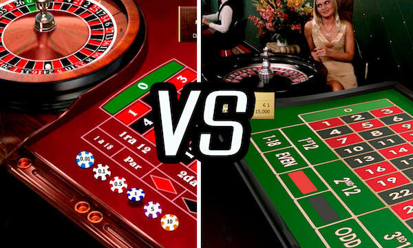Ruleta Online vs Ruleta en Vivo