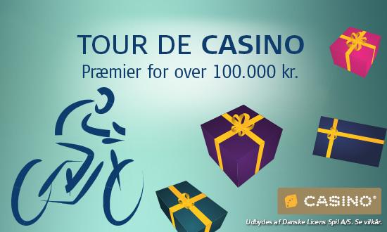 Tour de Casino på Danske Spil med gratis casino penge!