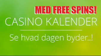 Casinokalender med gratis spins og casinobonusser