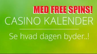 Casinokalender med gratis spins og casinobonusser