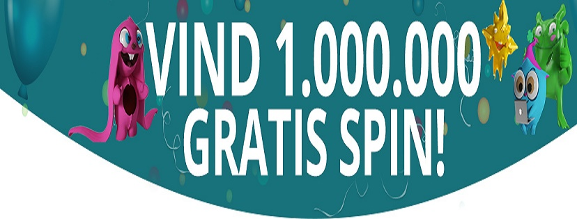 Vind 1.000.000 i DrueckGlueck Casino free spins konkurrence