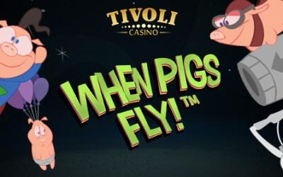 Prøv ny When Pigs Fly med 10 gratis spins på Tivoli Casino