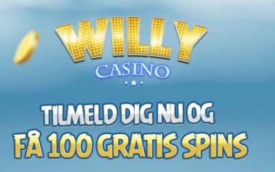 Nyt casino, Willy Casino, live med 100 gratis spins til nye spillere