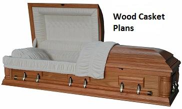 wood casket size