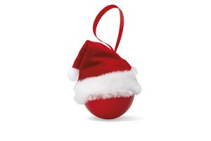 Palla di Natale con cappello d
