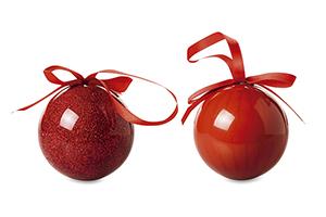 Set 2 palle di Natale in scato