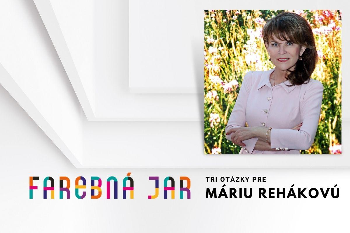 Tri otázky pre Máriu Rehákovú, zakladateľku a organizátorku Bratislavských módnych dní