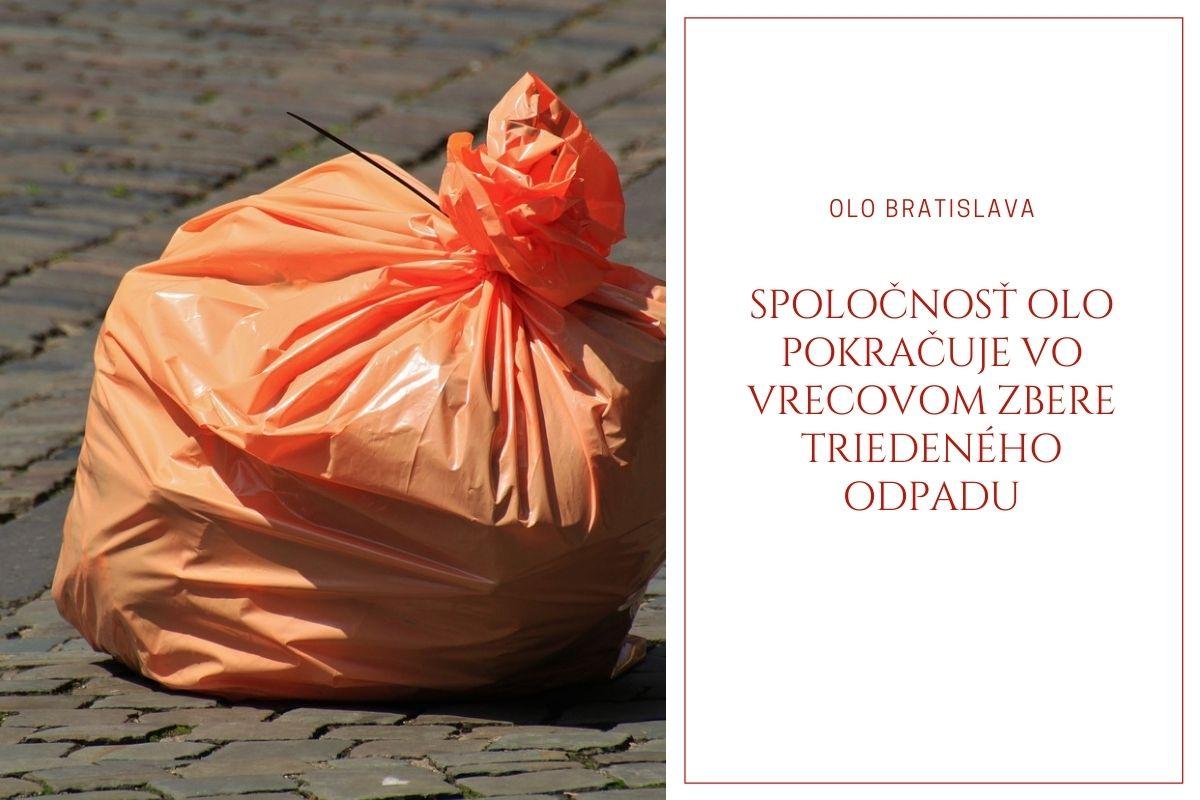 Spoločnosť OLO pokračuje vo vrecovom zbere triedeného odpadu z rodinných domov