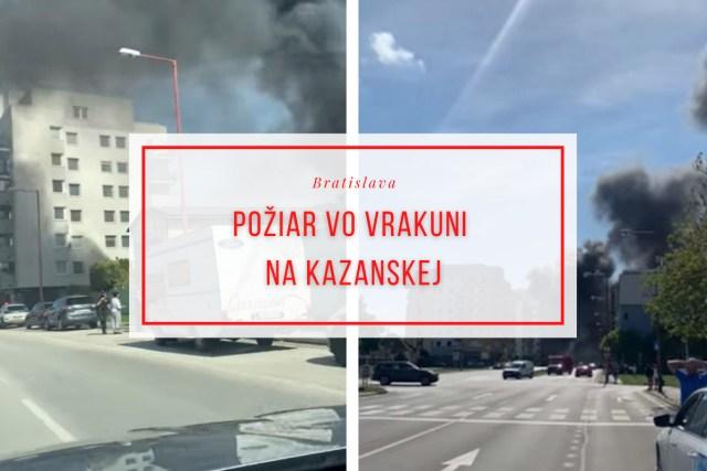 Požiar vo Vrakuni na kazanskej