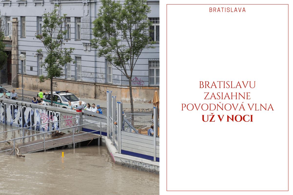 Bratislavu zasiahne povodňová vlna už v noci