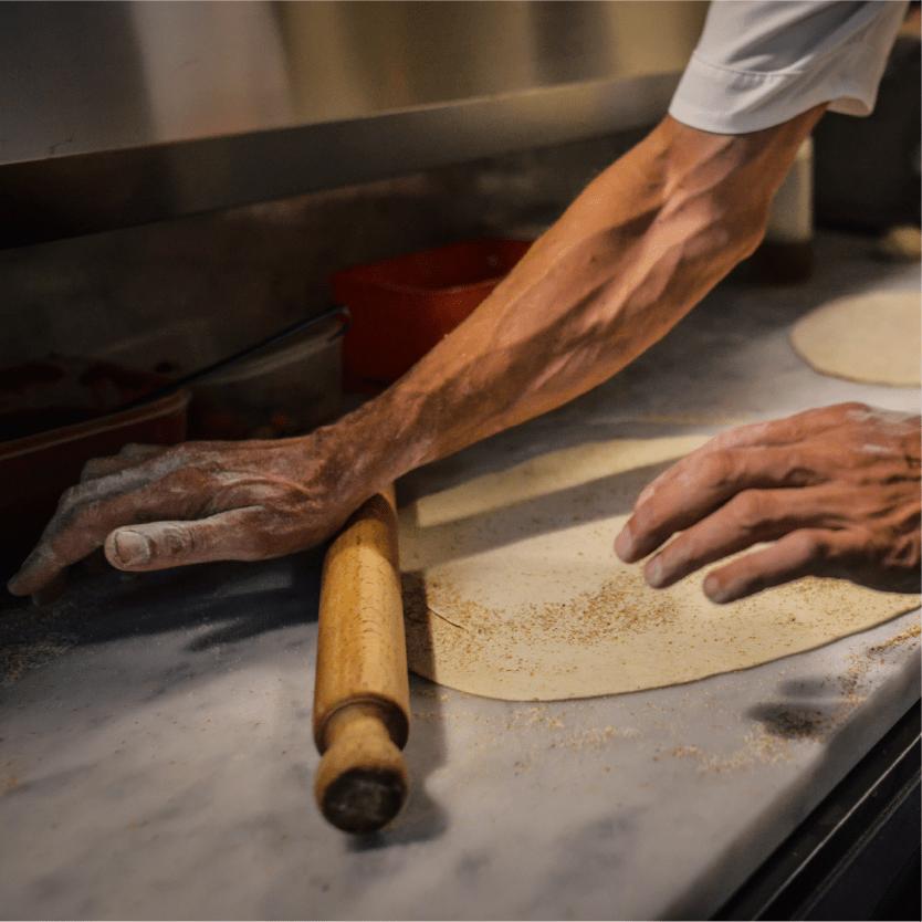 base pizza km0 La Dispensa