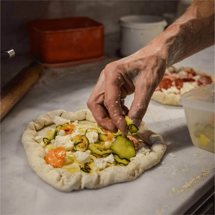 verdure km0 pizza La Dispensa