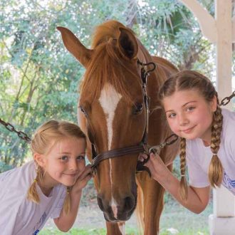 sweet horse kisses at horse riding stables