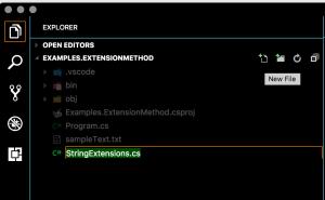 New StringExtension.cs Class source file