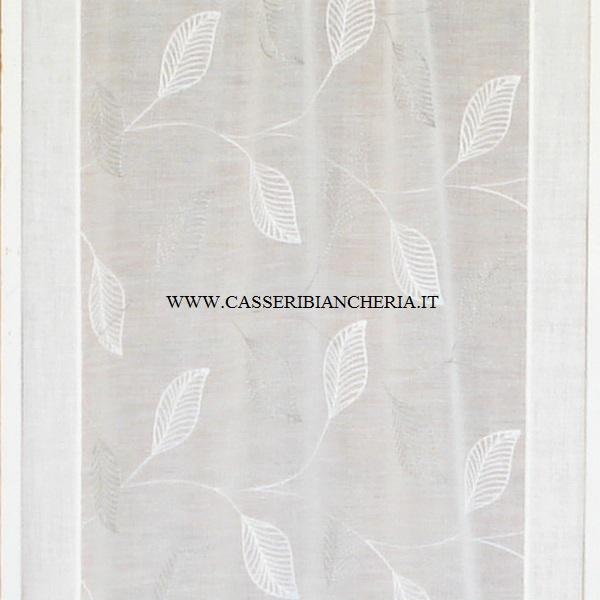 Come precedentemente anticipato le tende ricamate di lady casa possono essere realizzate : Tessuto Per Tendine Foglie Ricamate Grige Casseri Biancheria