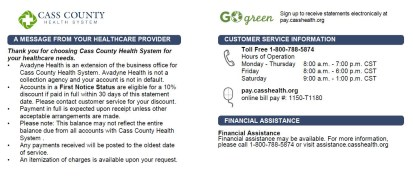 Cass County Health System Pay Your Bill Cass County Health System