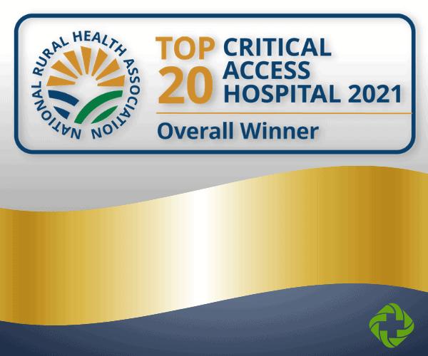 Top 20 Critical Access Hospital Award Logo