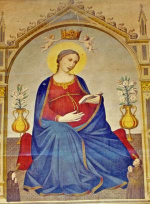 Una immagine della Madonna del Parto a Fiesole